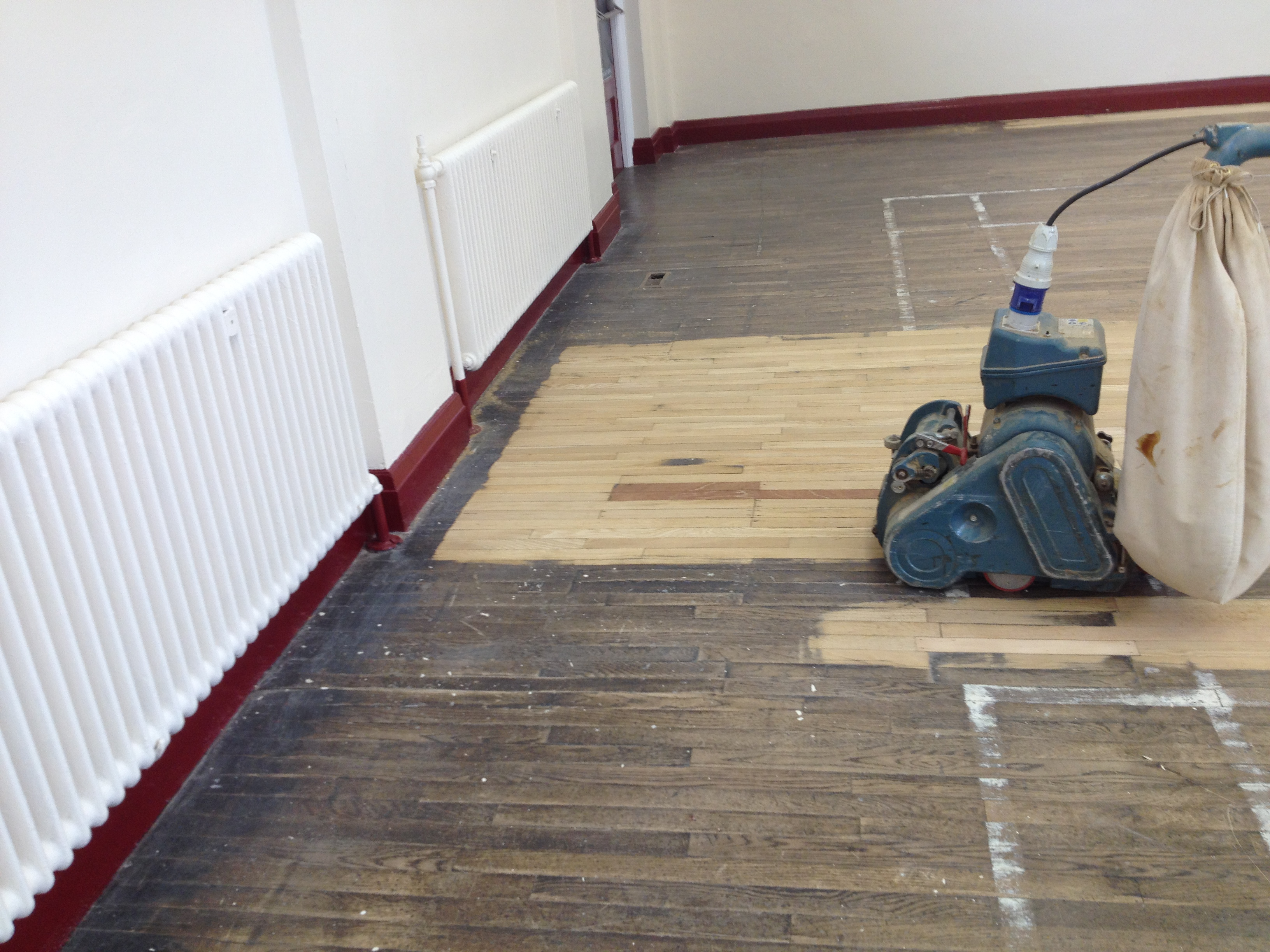 school floor. School Floor Sanding - Removing Old Surface Finish